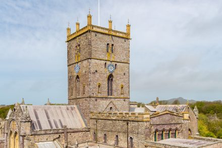 The 12th century St David's Cathedral Pembrokeshire Wales UK Europe