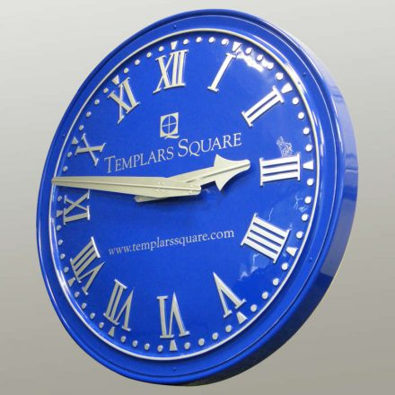 Convex dial with client's lettering, slender GRP case