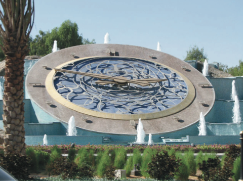 World's largest inclined clock