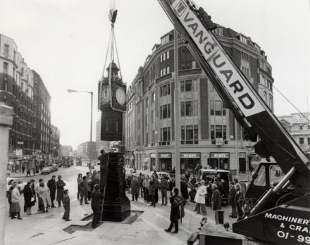 Site installation of clock tower by another clockmaker. Circa 1981