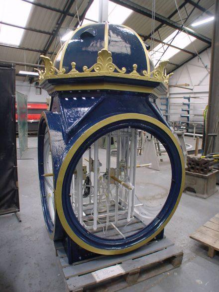 Full workshop conservation and refurbishment of historic pillar clock for Birmingham City Council/Sandwell MBC.