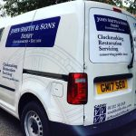 John Smith & Sons Clockmaker van with new logo and signage