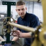 Apprentice Clockmaker Sam Schoonderwoerd