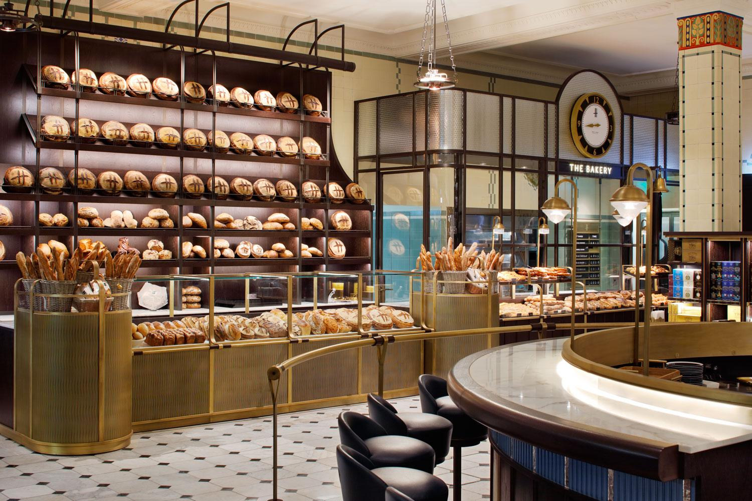 The newly launched roastery and bake hall at Harrods.