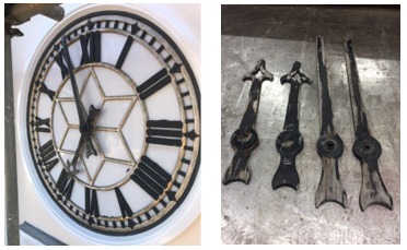 restoration of clock dials at a historic lincolnshire building